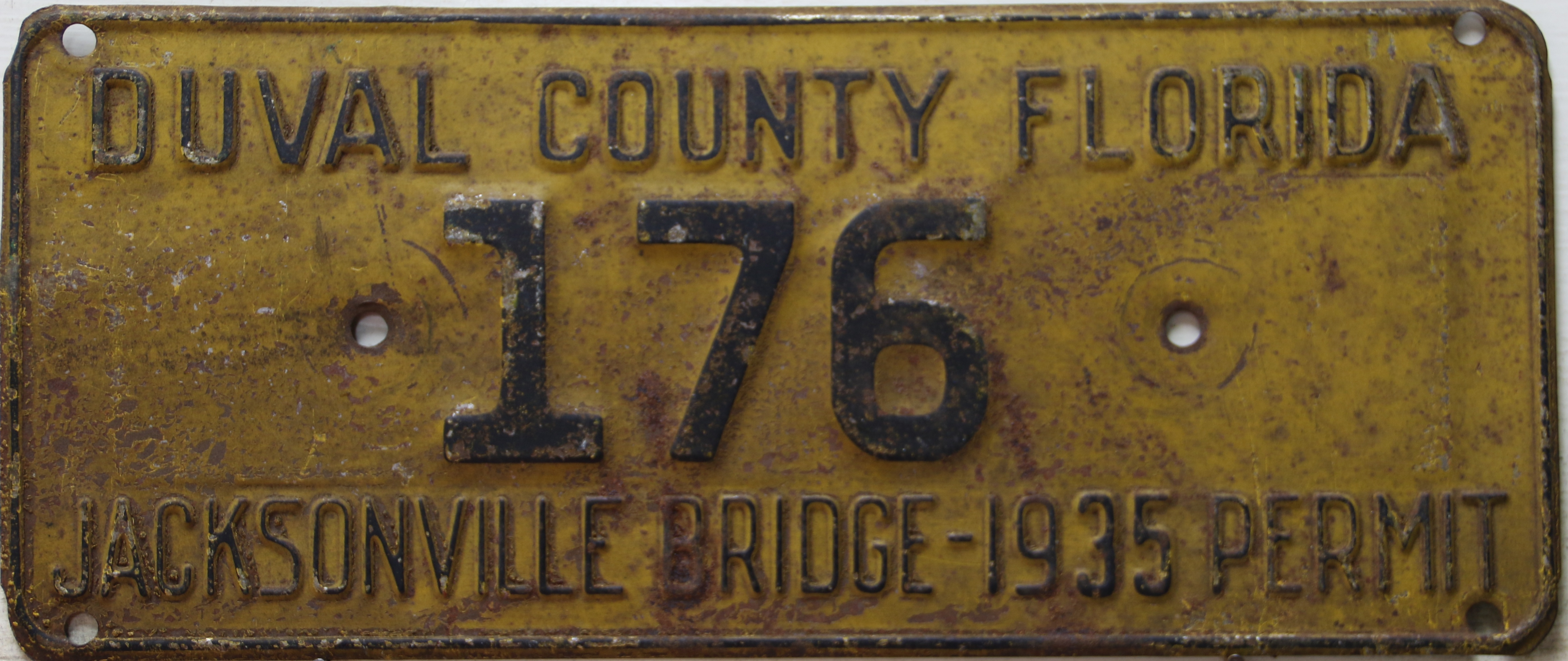 1928-1939 Jacksonville Bridge Toll Plates | Great American Plates